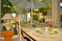 Sala ristorante con veranda