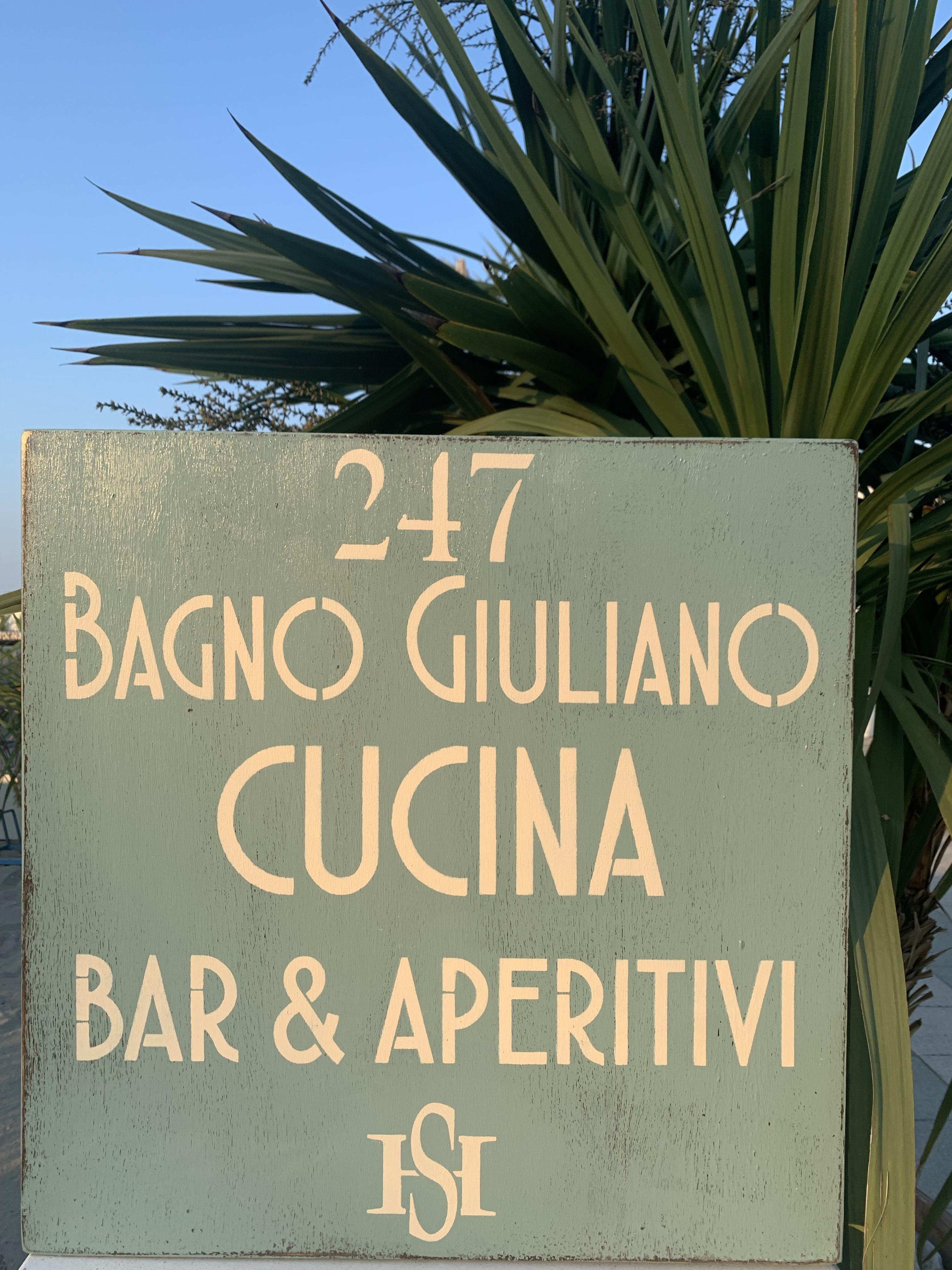 bagno giuliano247 sul lungomare di milano marittima cucina bar e aperitivi sulla spiaggia