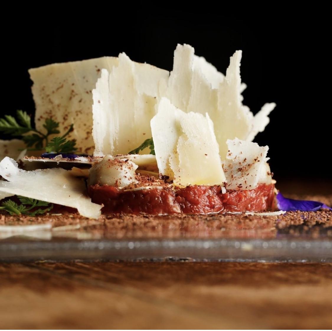 Crudo con formaggio cucina hotel saraceno