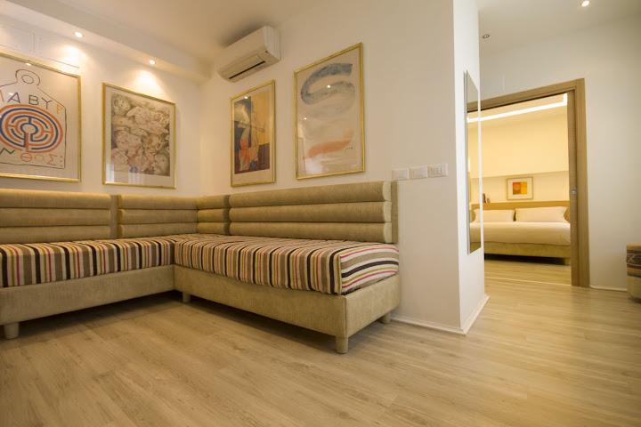 Panoramica della suite, camere comunicanti indipendenti
